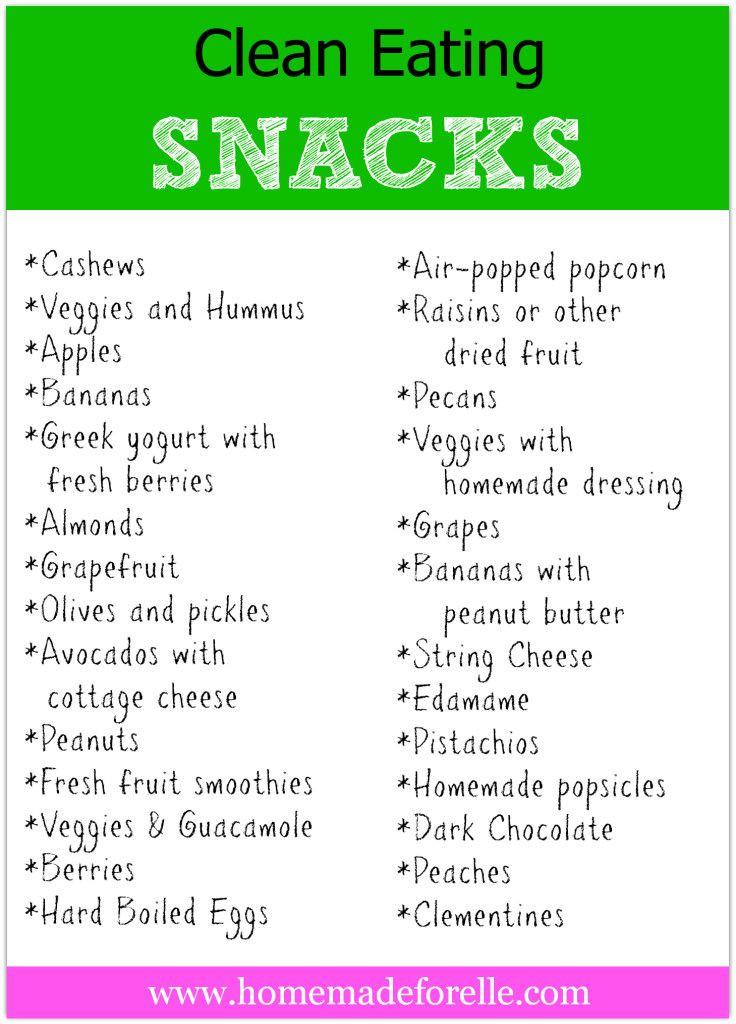 Healthy Snacks List  Clean Eating Snacks