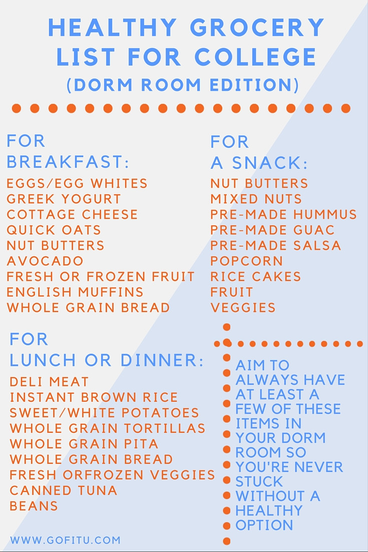 Healthy Snacks List  Healthy Snack Grocery List
