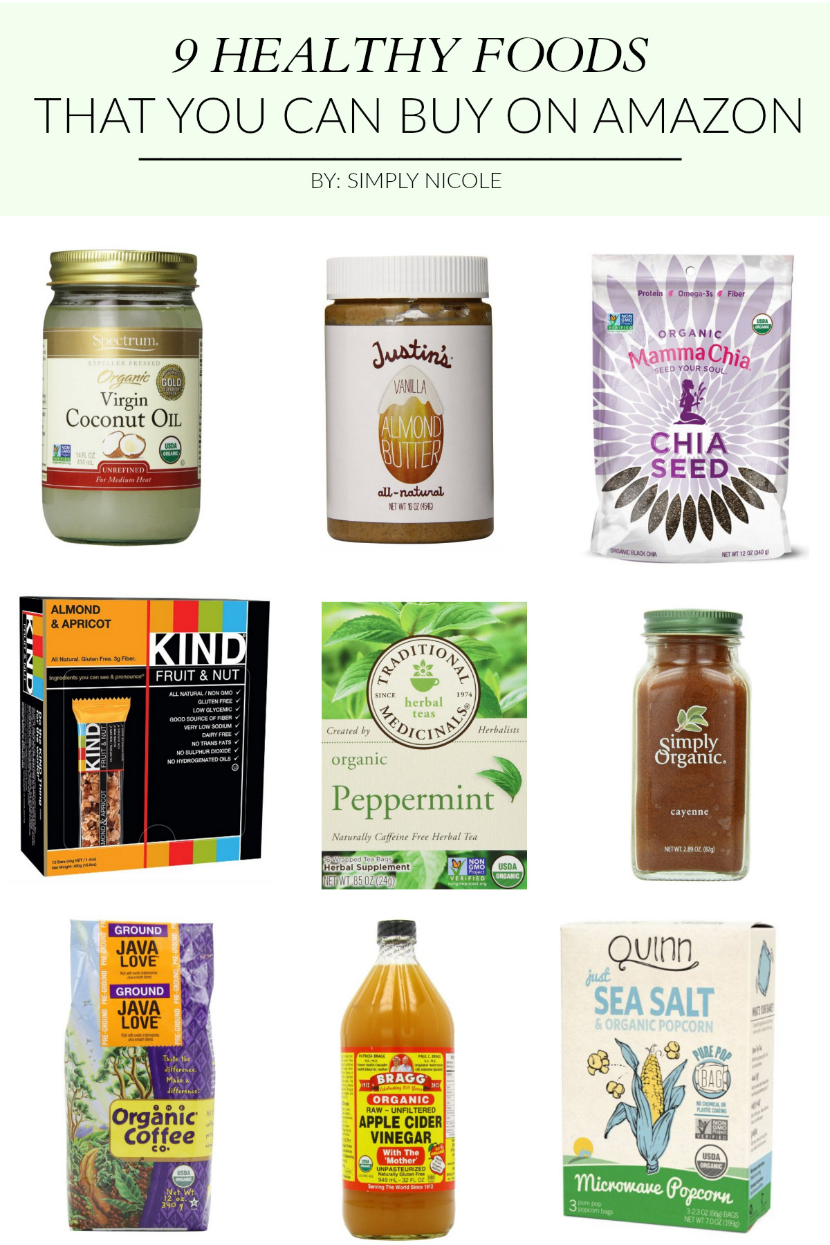 Healthy Snacks You Can Buy  9 Healthy Foods that You Can Buy on Amazon Simply Nicole