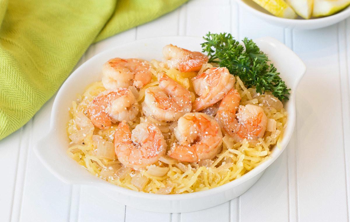 Healthy Spaghetti Squash Recipes  Healthy Spaghetti Squash Shrimp Scampi Recipe