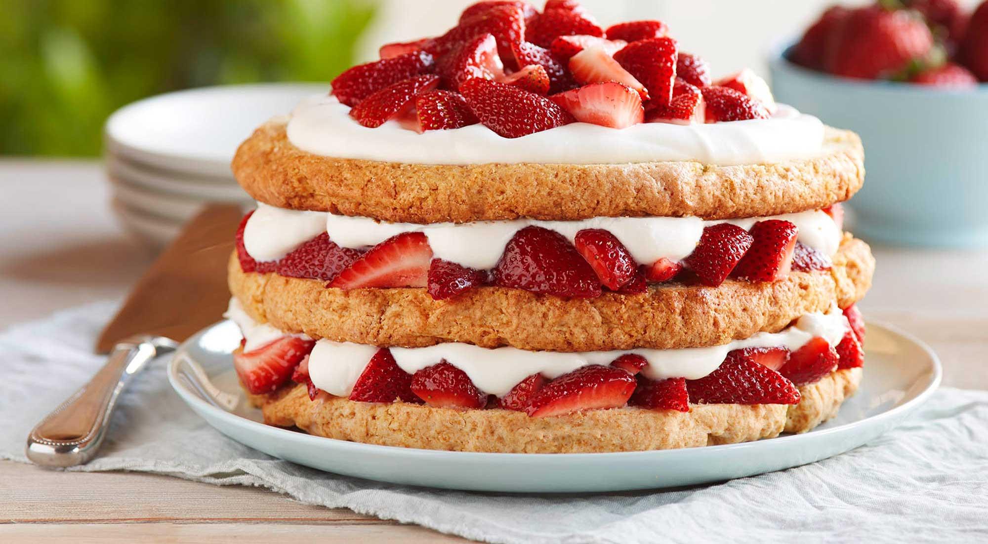 Healthy Strawberry Shortcake  Strawberry Shortcake Recipe
