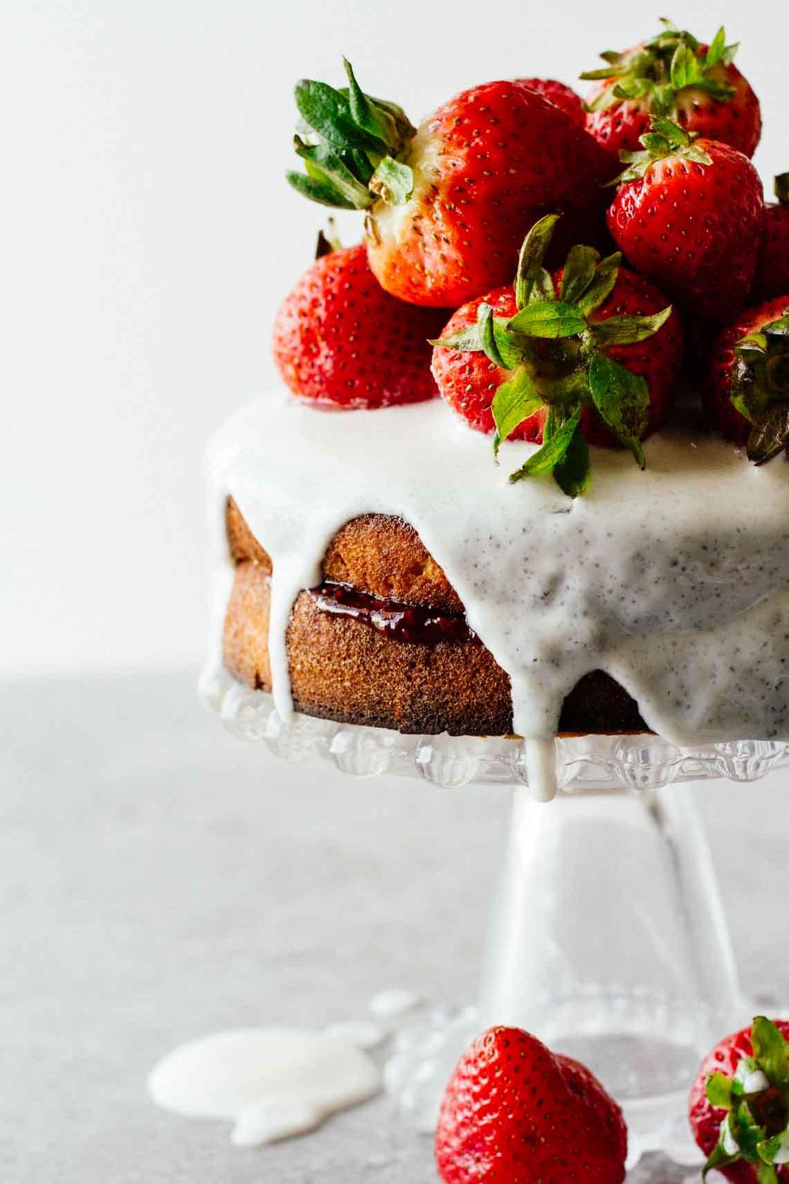 Healthy Strawberry Shortcake  Healthy Strawberry Shortcake w Sugar Free Glaze Jar