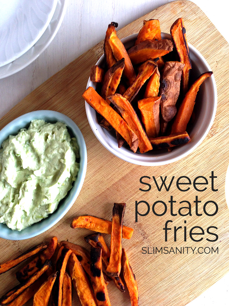 Healthy Sweet Potato Fries  Healthy Sweet Potato Fries Slim Sanity
