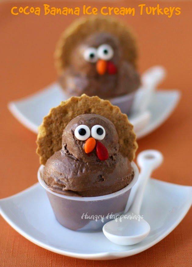 Healthy Thanksgiving Desserts  Cocoa Banana Ice Cream Turkeys Healthy Thanksgiving Dessert