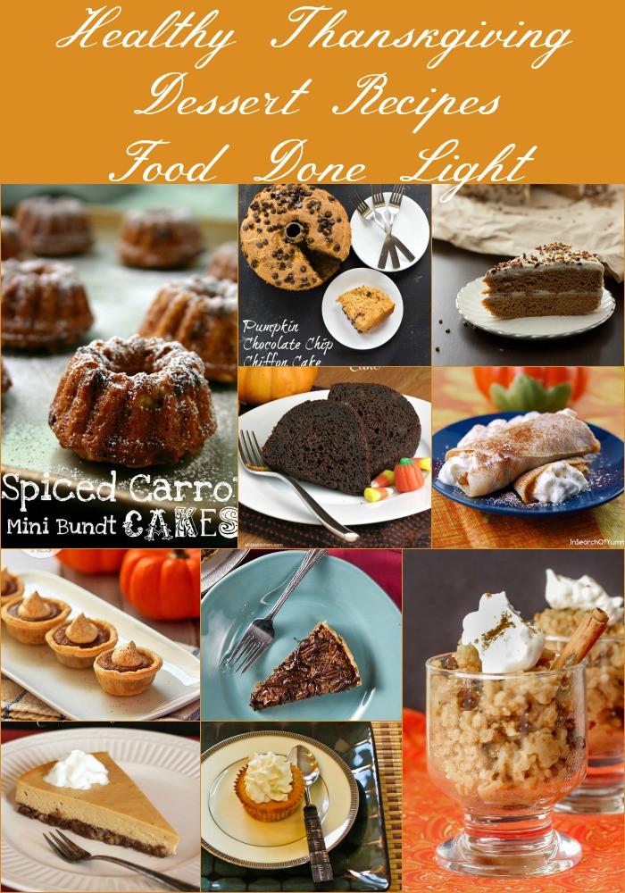 Healthy Thanksgiving Desserts  Healthy Thanksgiving Dessert Recipes Food Done Light