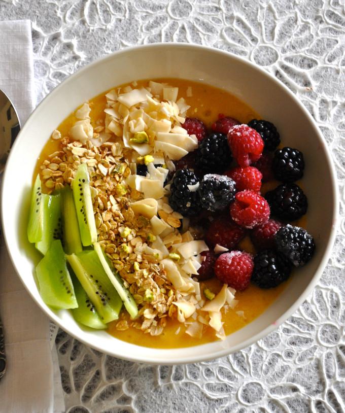 Healthy Vegetarian Breakfast Recipes  Healthy Vegan Breakfast Bowl with Mango Pudding