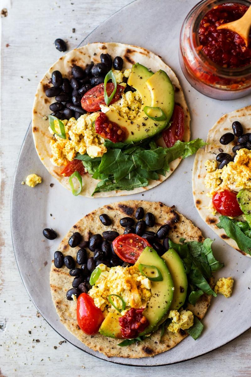 Healthy Vegetarian Breakfast Recipes  Vegan breakfast tacos Lazy Cat Kitchen