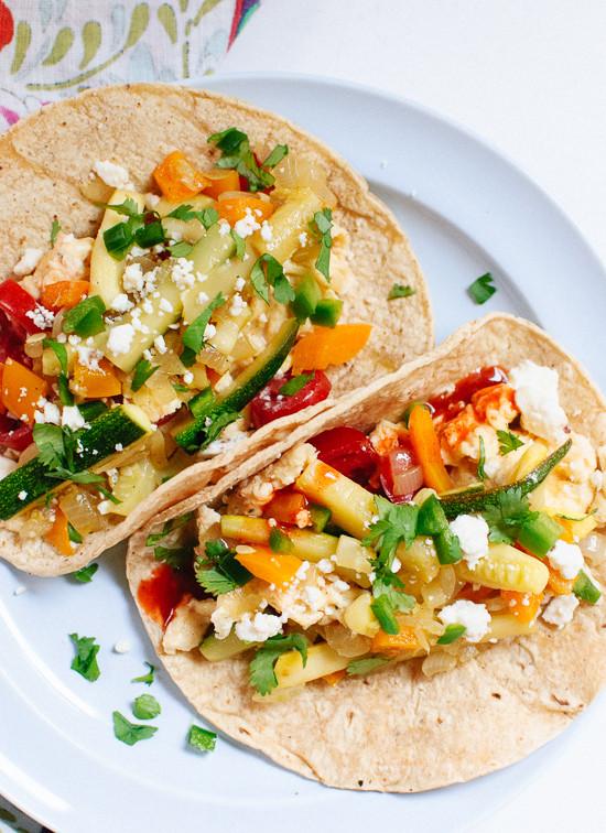 Healthy Vegetarian Breakfast Recipes  Veggie Breakfast Tacos Cookie and Kate