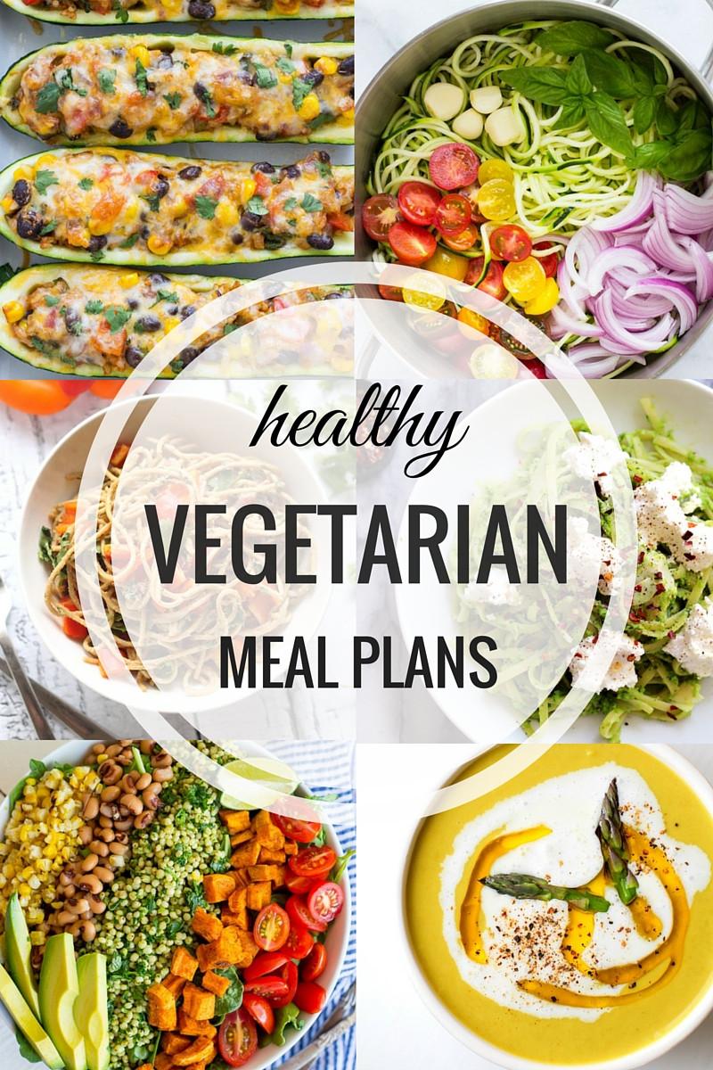 Healthy Vegetarian Dinner Ideas  Healthy Ve arian Meal Plan Week of 7 9 16