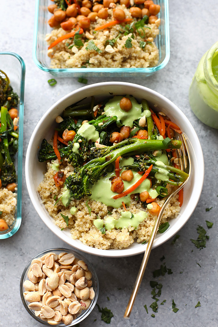 Healthy Vegetarian Dinner Ideas  Meal Prep Ve arian Kung Pao Quinoa Bowls 5 more bowl