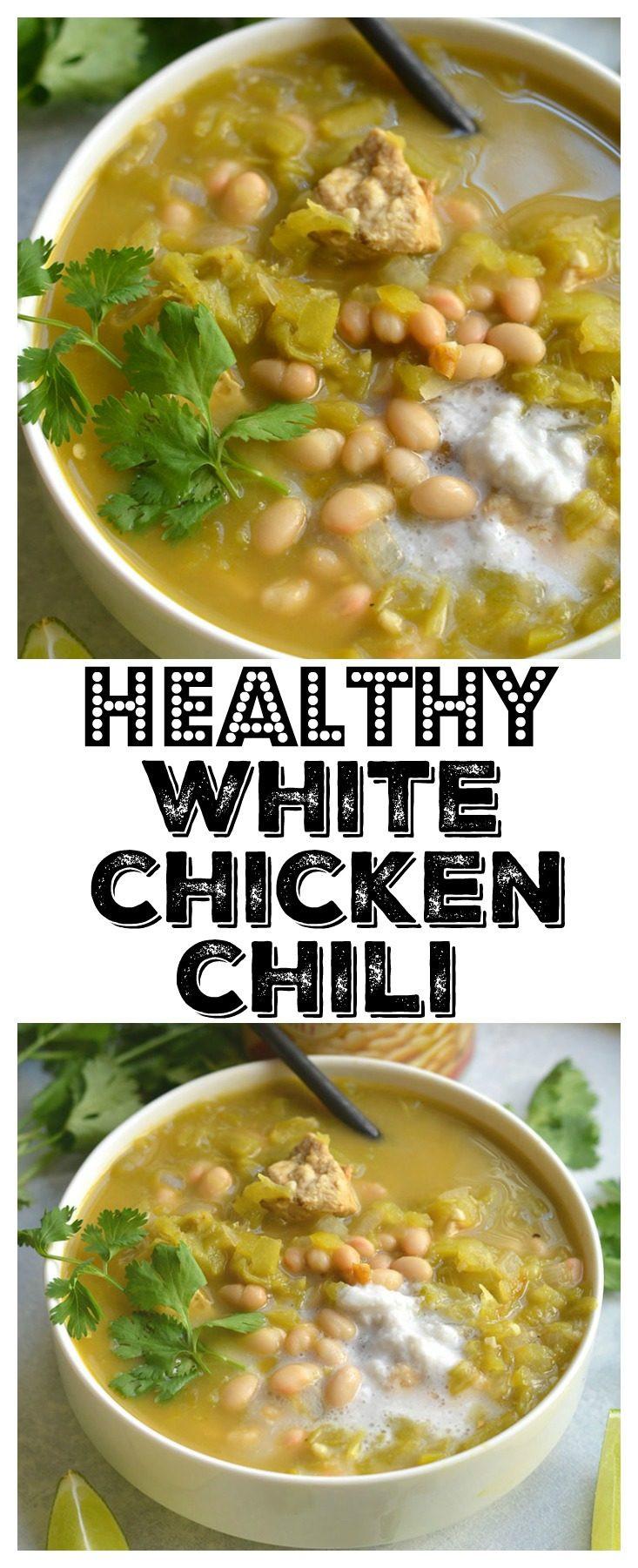 Healthy White Chicken Chili  Healthy White Chicken Chili GF Low Cal Skinny