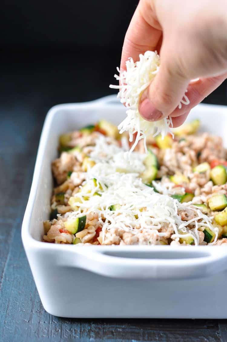 Healthy Zucchini Casserole  Cheesy Turkey Tomato and Zucchini Casserole The