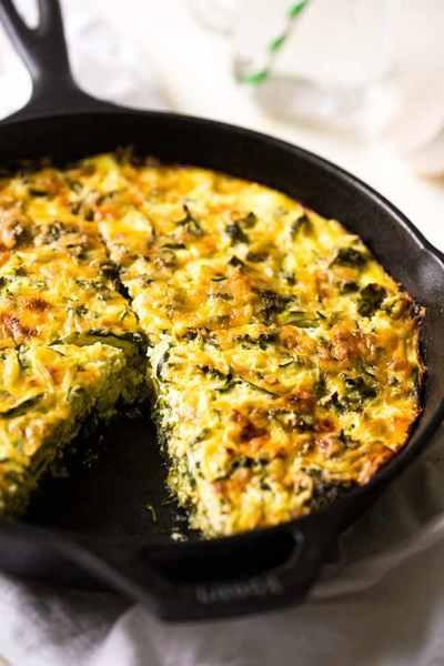 Healthy Zucchini Casserole  Broccoli and Zucchini Noodle Casserole