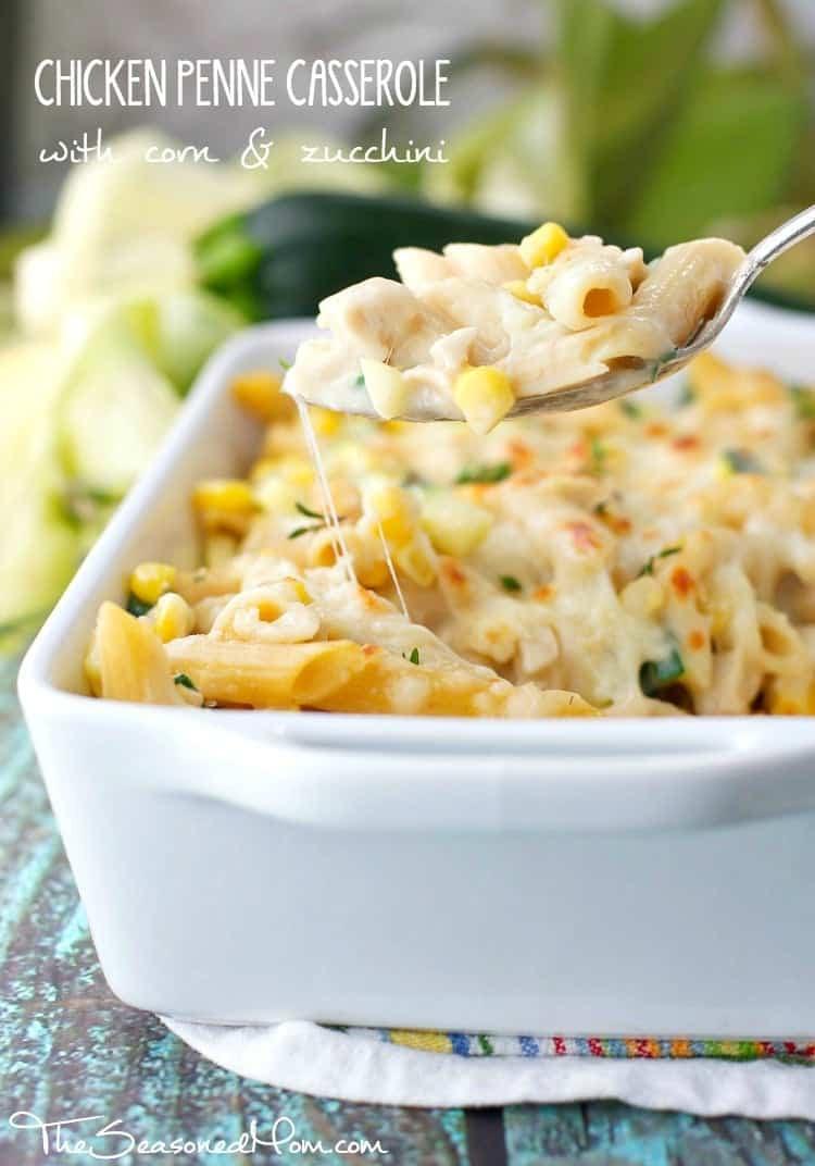 Healthy Zucchini Casserole  Chicken Penne Casserole with Corn and Zucchini The