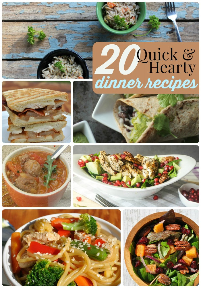 Hearty Dinner Ideas  Great Ideas 20 Hearty and Quick Dinner Recipes