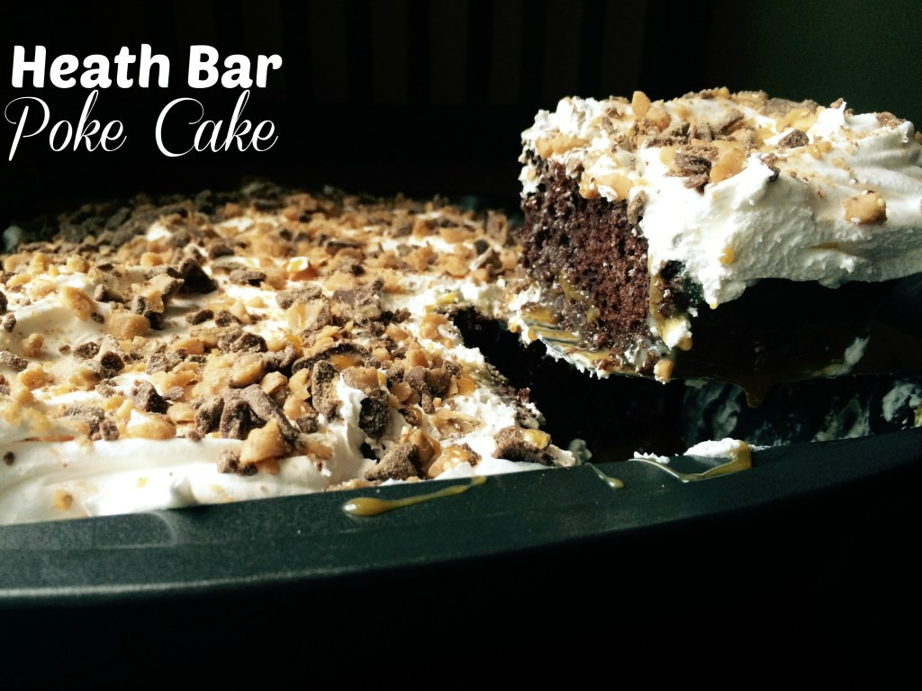 Heath Bar Dessert  Heath Bar Poke Cake Aunt Bee s Recipes