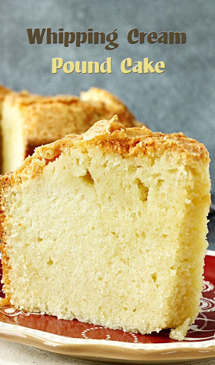 Heavy Whipping Cream Dessert Recipes  Whipping Cream Pound Cake