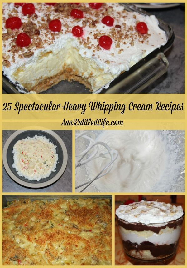 Heavy Whipping Cream Dessert Recipes  The 25 best Heavy whipping cream ideas on Pinterest