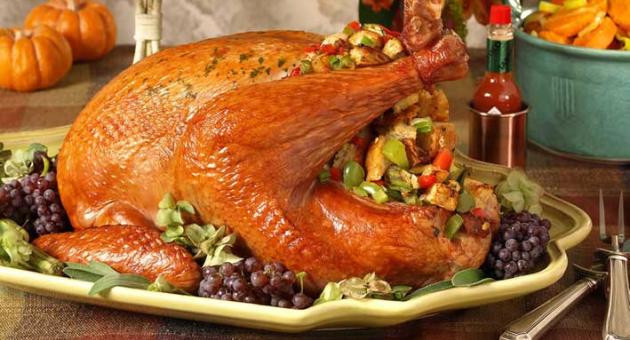 Heb Thanksgiving Dinner 2016  The traditional Christmas dish remains stuffed turkey but