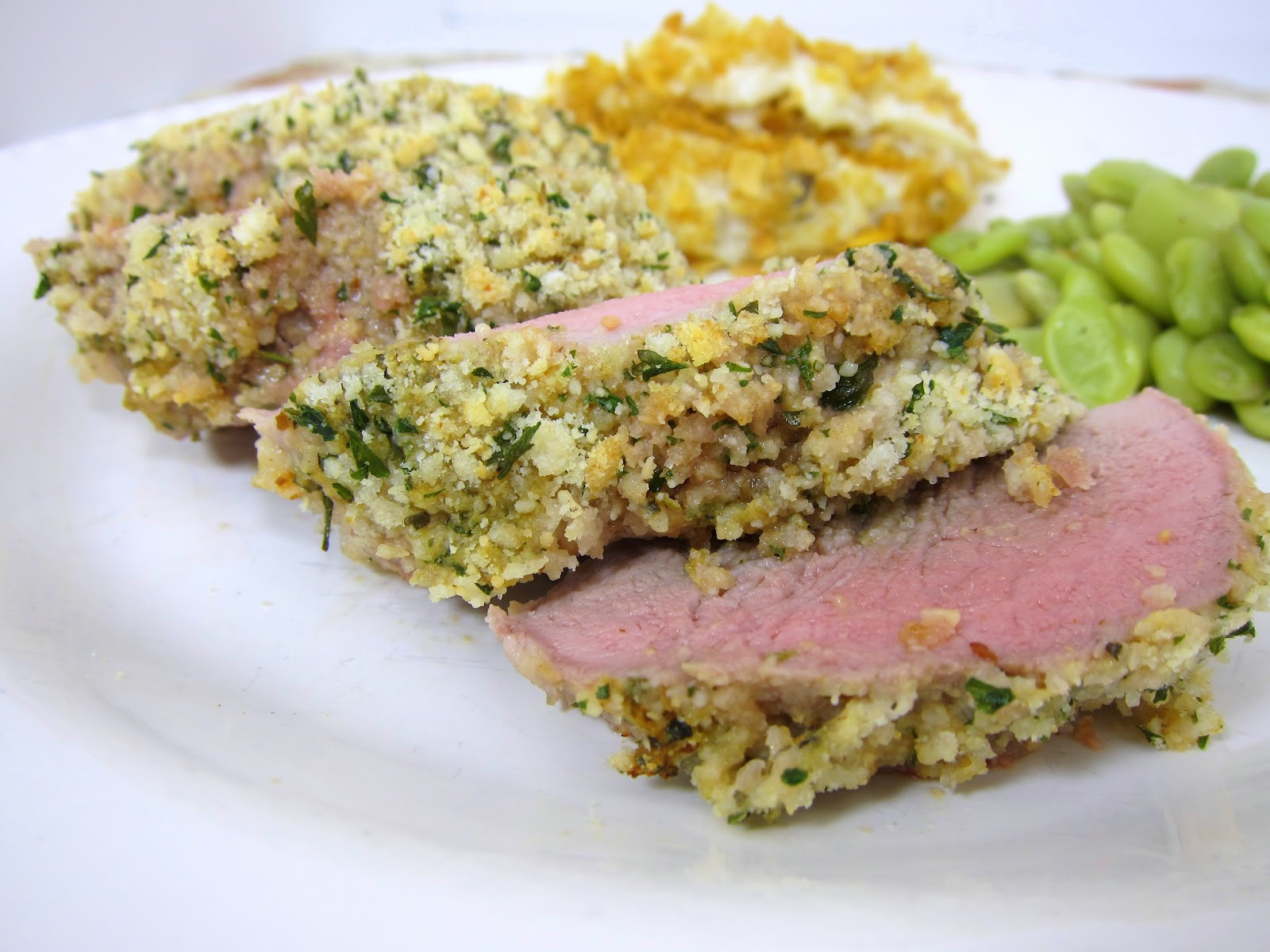Herb Crusted Pork Loin  Saucy Mama Honey Chipotle Lime Chicken & Herb Crusted