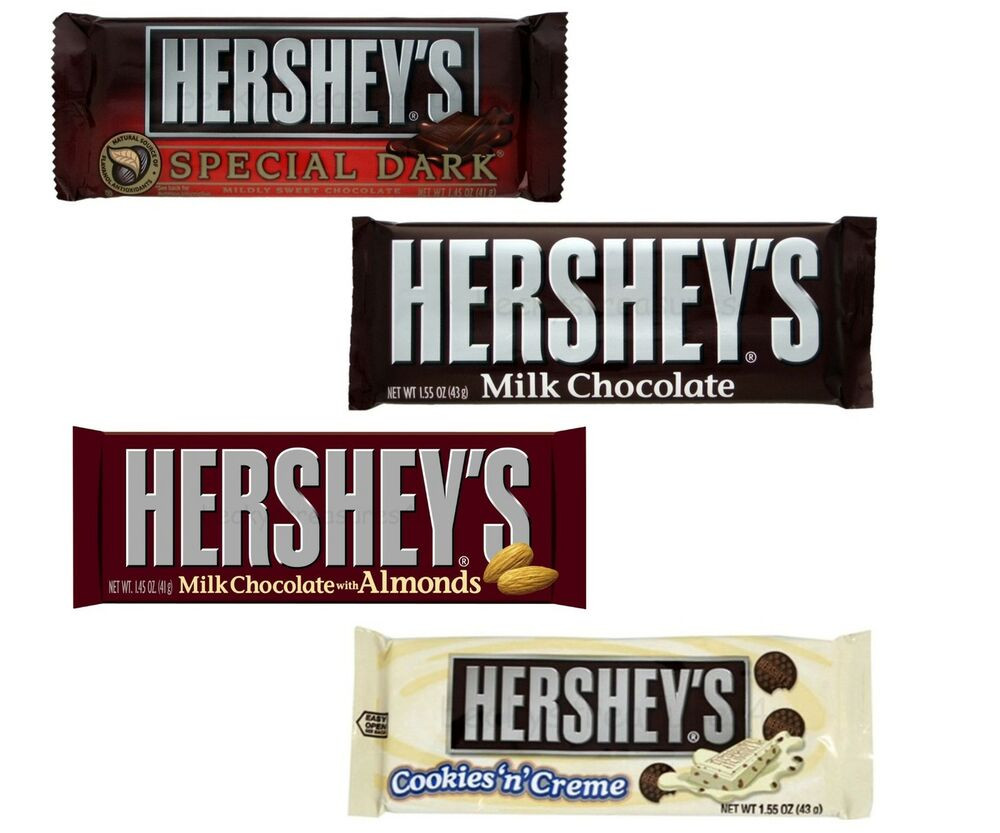 Hershey'S Chocolate Cake  Hershey s Milk Dark White Chocolate Candy 24 Bars