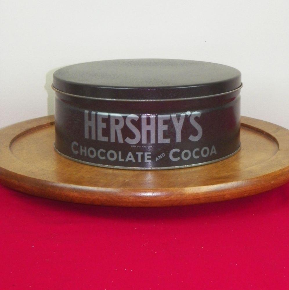 "Hershey'S Chocolate Cake  Hershey s Chocolate & Cocoa Round Tin Candy 8"""