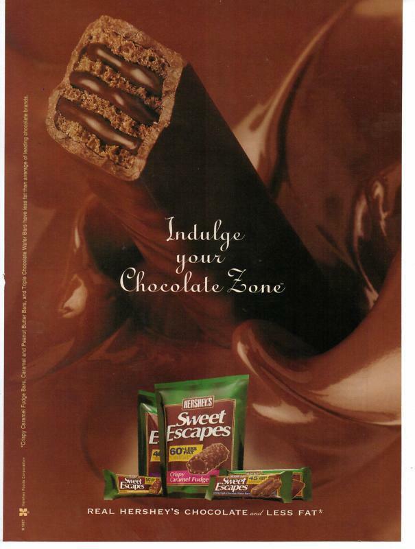 Hershey'S Chocolate Cake  1998 Hershey s Chocolate Sweet Escape Magazine Print