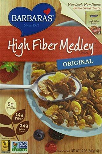 High Fibre Breakfast Cereals  Barbara s High Fiber Medley Cereal Original 12 Ounce