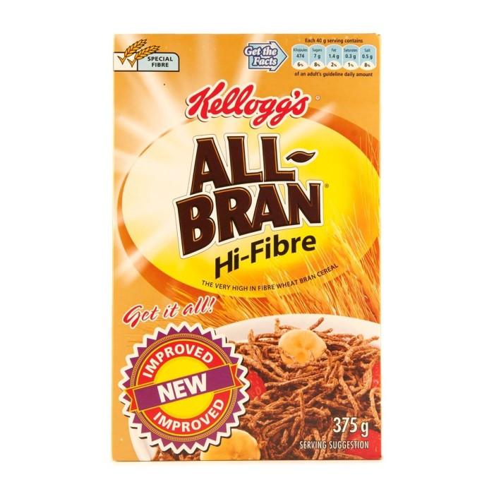 High Fibre Breakfast Cereals  Kellogg s All Bran High Fibre 375g