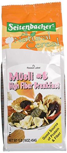 High Fibre Breakfast Cereals  Seitenbacher Musli Cereal 8 High Fiber Breakfast 16