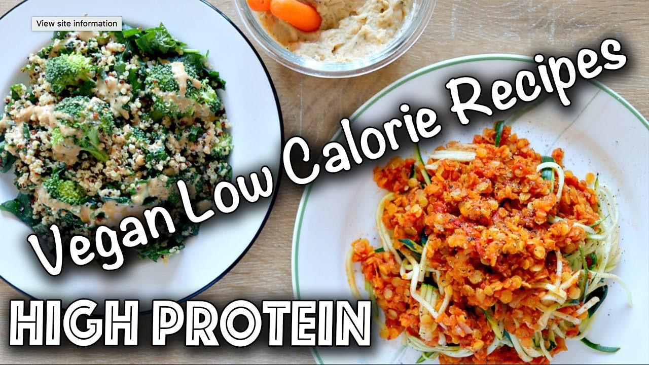 High Protein Vegan Recipes  LOW CALORIE HIGH PROTEIN VEGAN RECIPES Gluten Free too