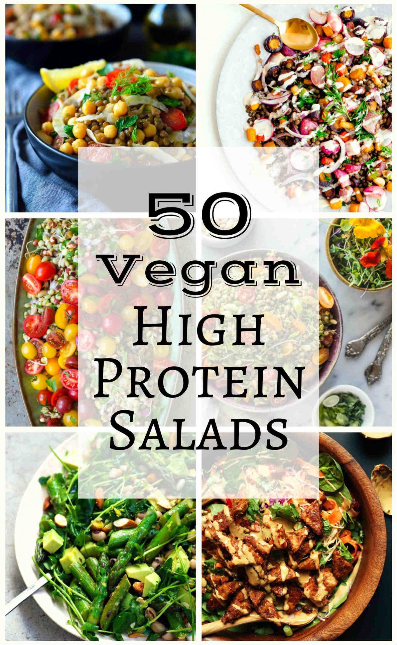 High Protein Vegan Recipes  50 Vegan High Protein Salads