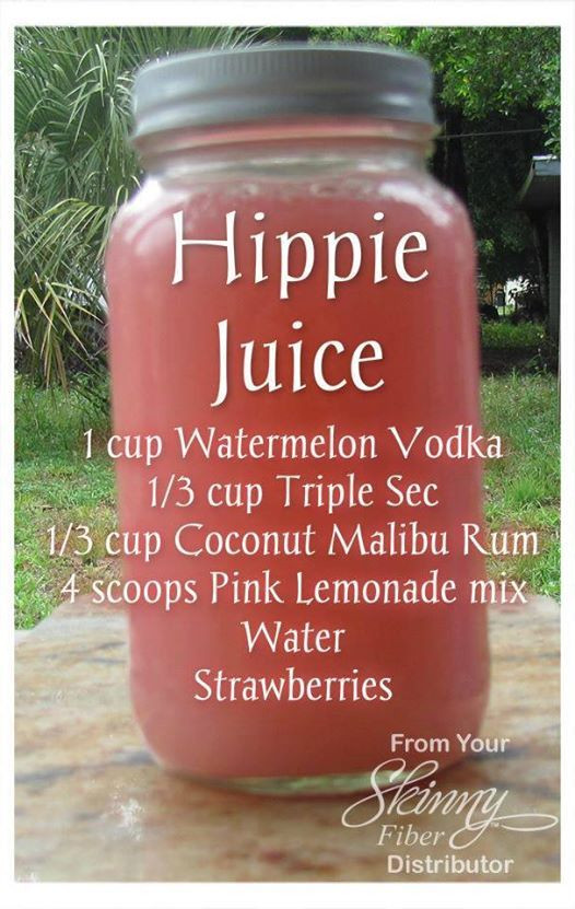 Hippie Juice Recipe  Hippie Juice adult beverage recipe Alcohol Vodka