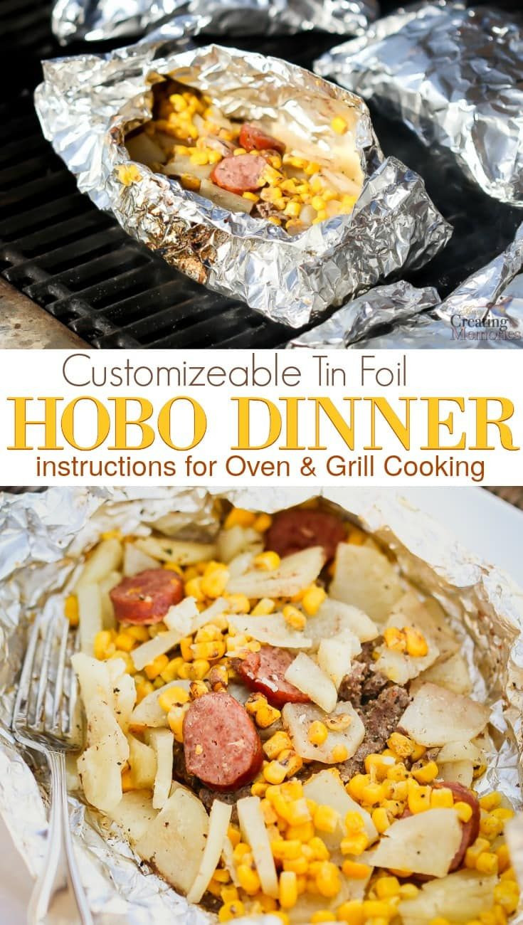 Hobo Dinner On Grill  100 Recipes With Hamburger on Pinterest