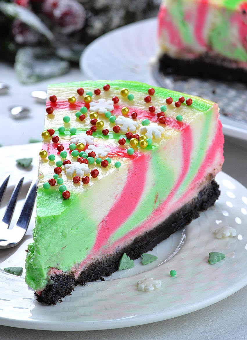 Holiday Desserts Recipes  Christmas Cheesecake OMG Chocolate Desserts