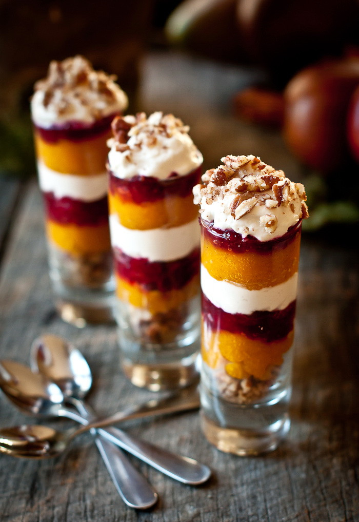 Holiday Desserts Recipes  healthy parfait dessert recipes