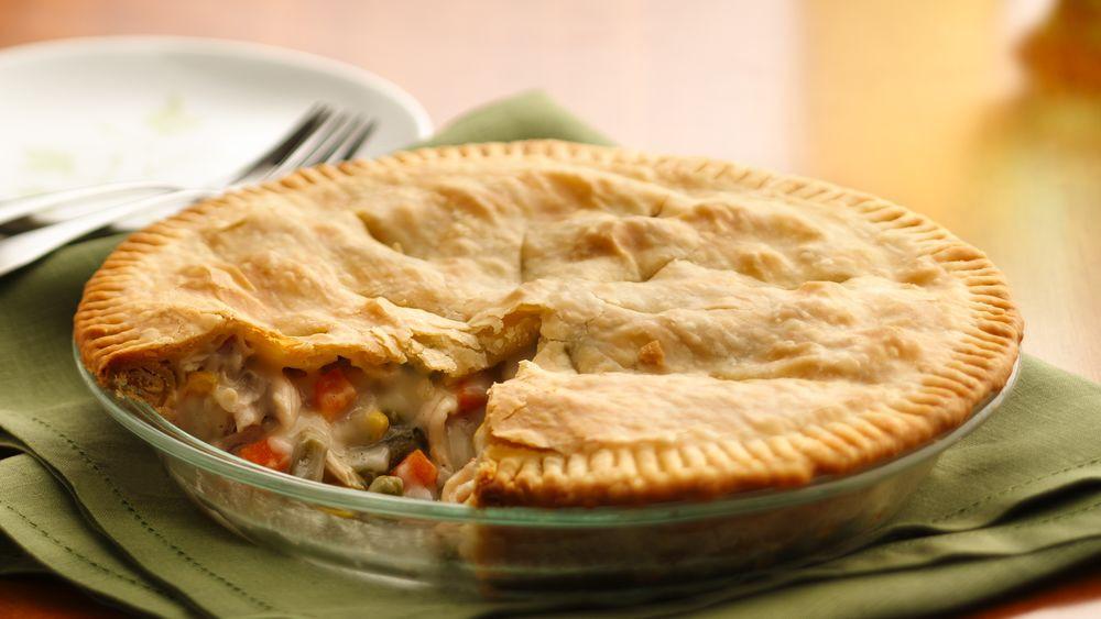 Home Made Chicken Pot Pie  Classic Chicken Pot Pie recipe from Pillsbury