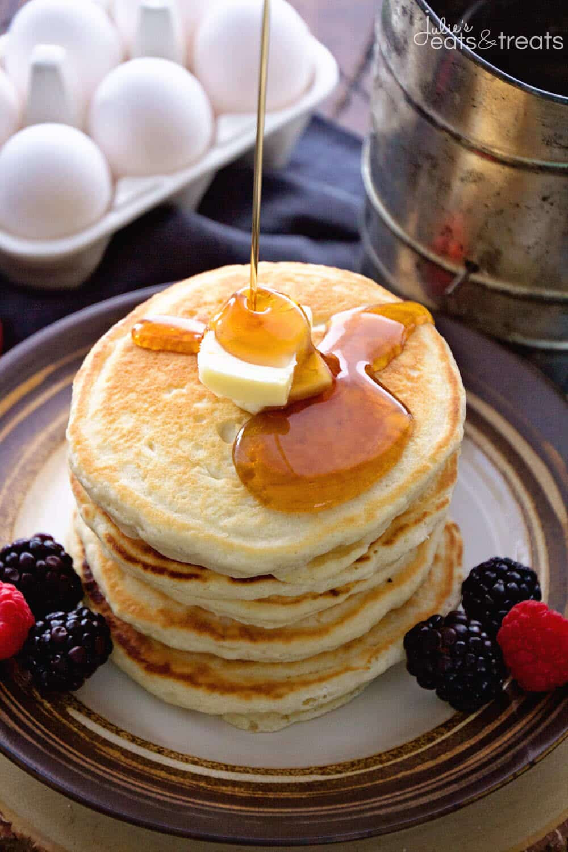 Home Made Pancakes  Easy Homemade Pancakes Recipe VIDEO Julie s Eats & Treats