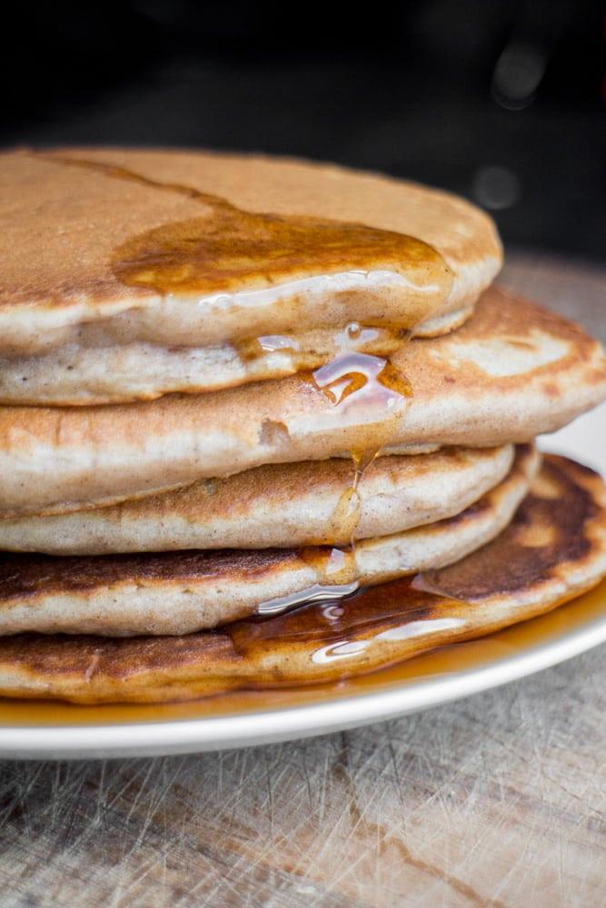 Home Made Pancakes  No Butter Homemade Pancakes Easy Vegan Pancakes Recipe