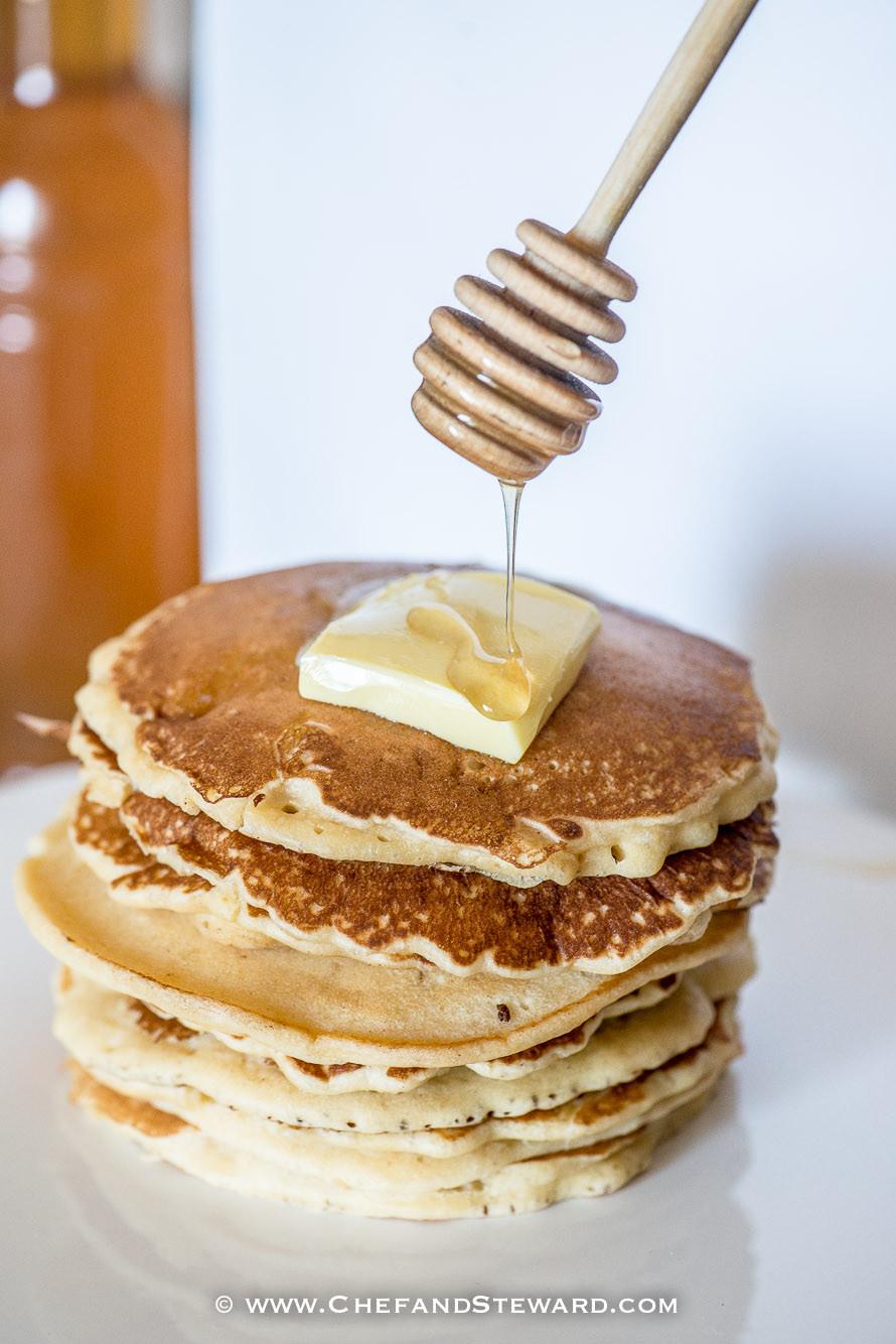 Home Made Pancakes  Easy peasy basic plain homemade pancake recipe