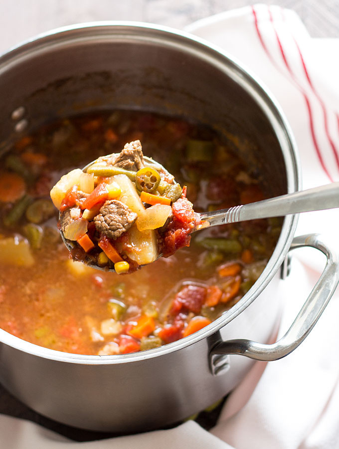 Homemade Beef Vegetable Soup  best homemade ve able beef soup