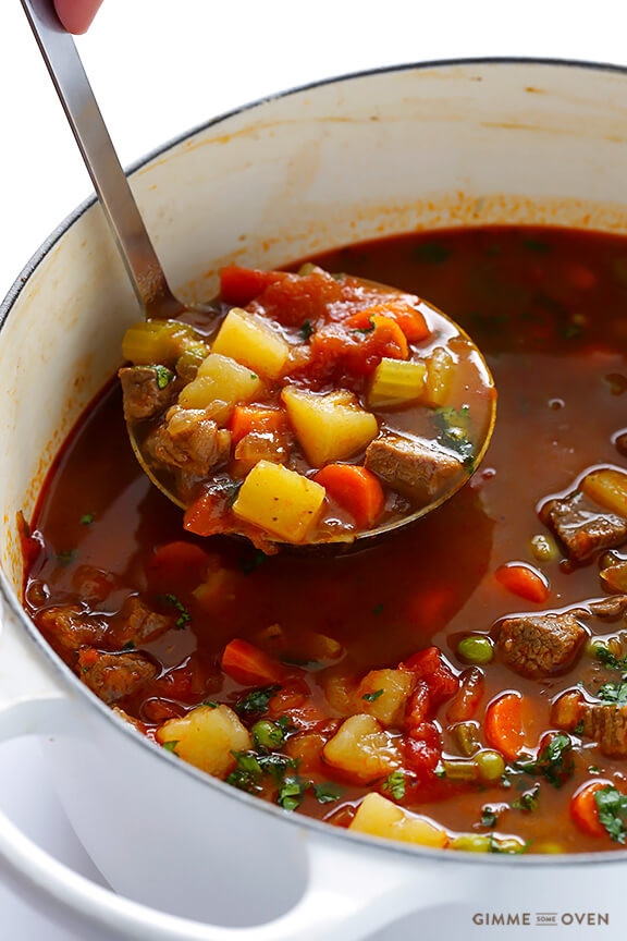 Homemade Beef Vegetable Soup  Ve able Beef Soup