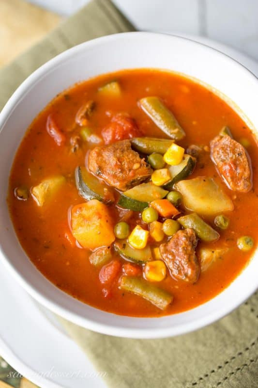 Homemade Beef Vegetable Soup  Homemade Ve able Beef Soup Saving Room for Dessert