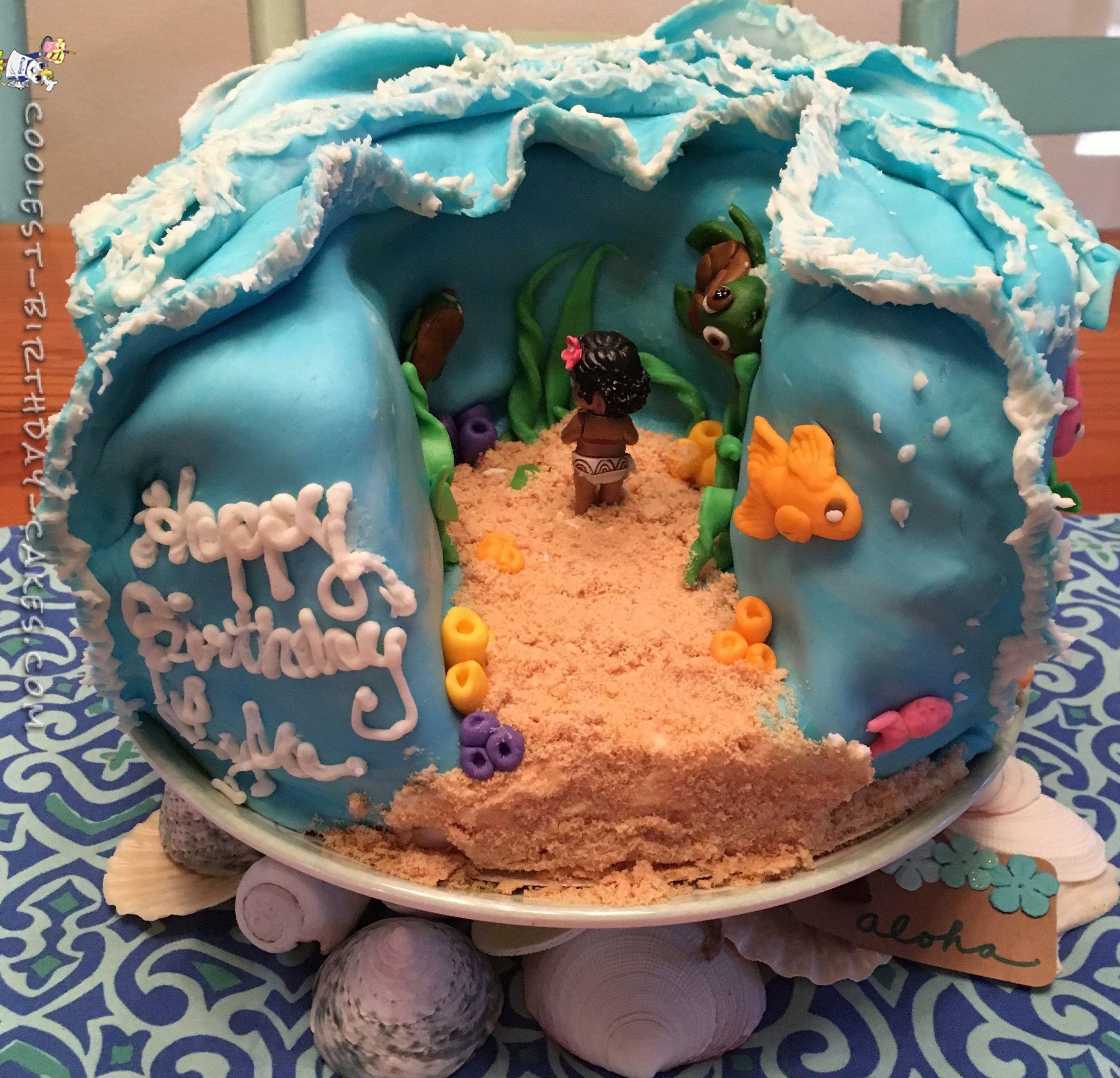 Homemade Birthday Cake Ideas  Cool Homemade Moana Cake
