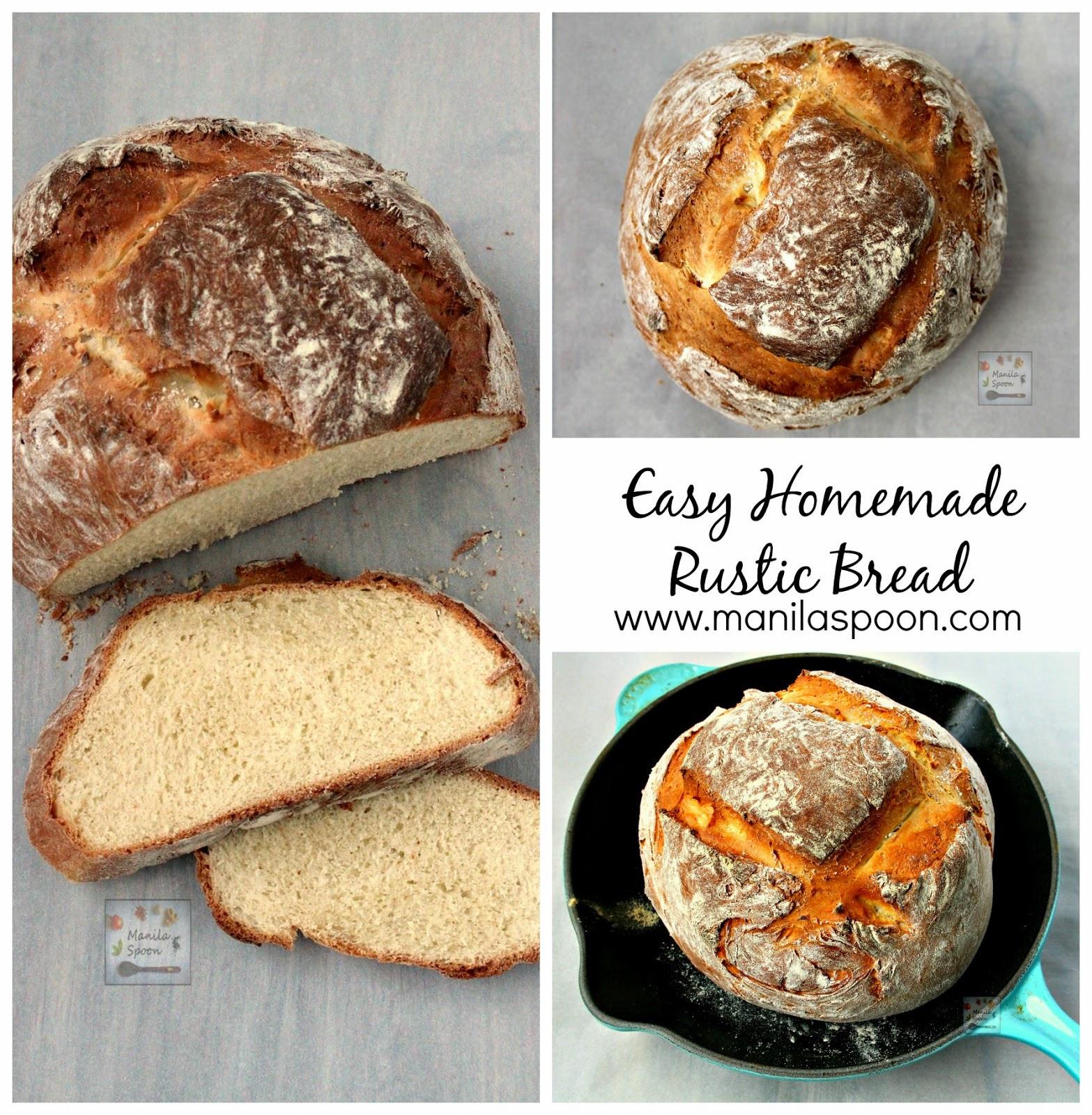 Homemade Bread Recipe  Easy Homemade Rustic Bread Manila Spoon