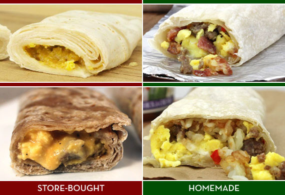 Homemade Breakfast Burritos  Homemade Frozen Breakfast Burrito Assembly Line
