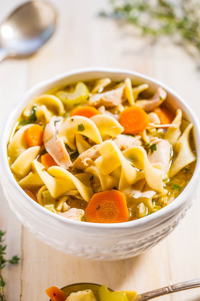 Homemade Chicken And Noodles  Easy 30 Minute Homemade Chicken Noodle Soup Averie Cooks