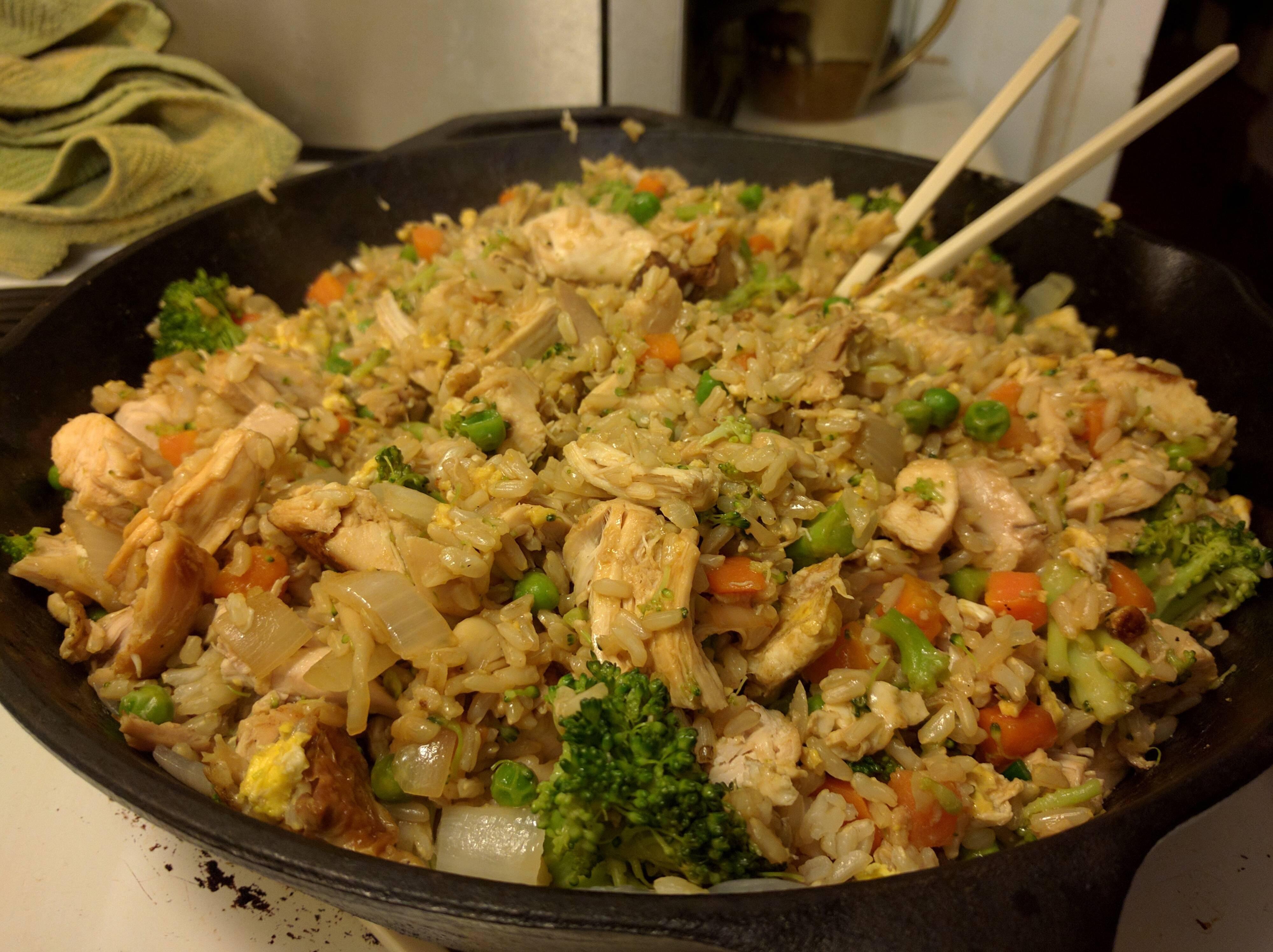 Homemade Chicken Fried Rice  Homemade chicken fried rice food
