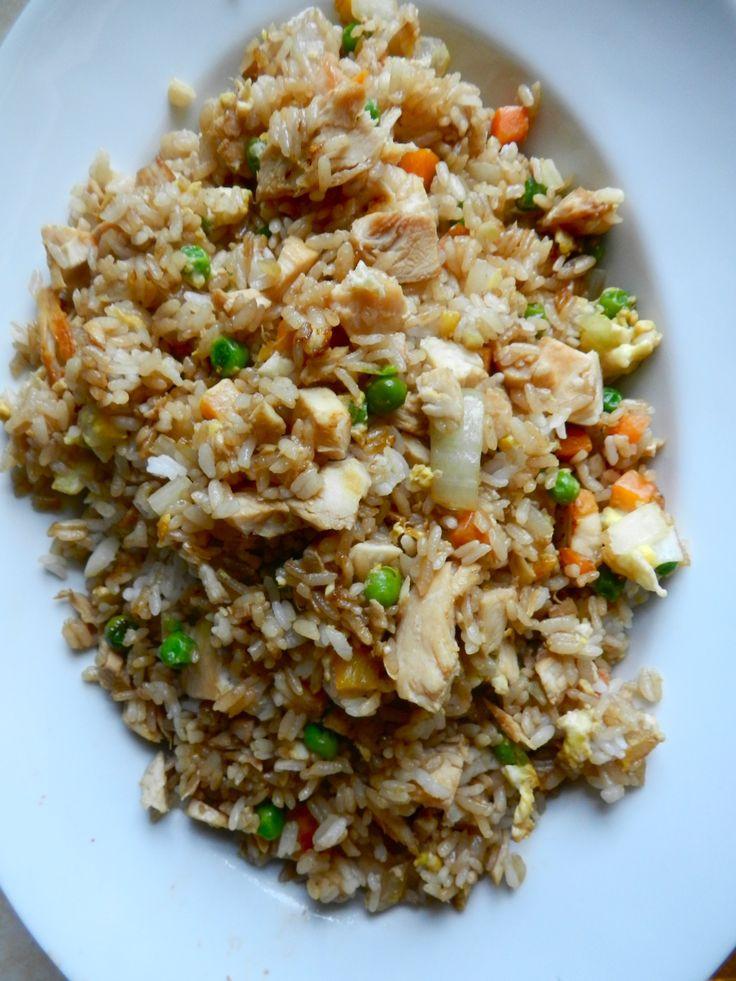 """Homemade Chicken Fried Rice  """"Better than takeout chicken fried rice"""" Homemade plus no"""
