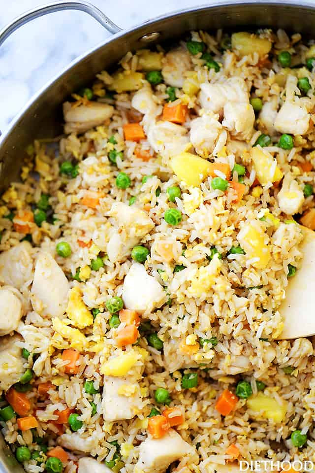 Homemade Chicken Fried Rice  Easy Chicken Fried Rice Recipe